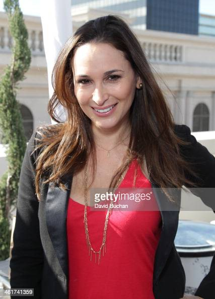 TV presenter Laura Saltman attends DPA PreGolden Globe Awards Gift Suite at the Luxe Hotel on January 10 2014 in Beverly Hills California