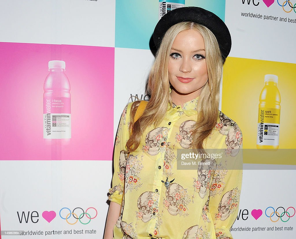 Presenter Laura Whitmore arrives as Glaceau vitaminwater presents 'Jessie J Live In London' at The Roundhouse on August 4, 2012 in London, England.