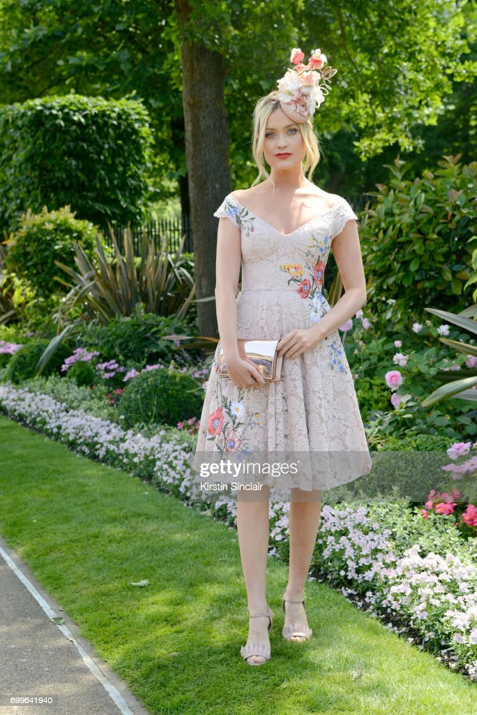 Presenter Laura Whitmore attends day 3 of Royal Ascot at Ascot Racecourse on June 22, 2017 in Ascot, England.