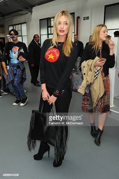 Presenter Laura Whitmore attends the Eudon Choi show during London Fashion Week Spring/Summer 2016 on September 18 2015 in London England