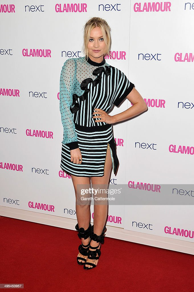 Presenter <a gi-track='captionPersonalityLinkClicked' href=/galleries/search?phrase=Laura+Whitmore&family=editorial&specificpeople=5599316 ng-click='$event.stopPropagation()'>Laura Whitmore</a> attends the Glamour Women of the Year Awards at Berkeley Square Gardens on June 3, 2014 in London, England.
