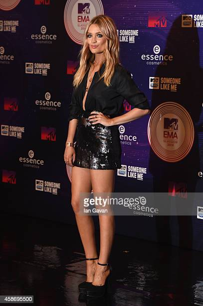 Presenter Laura Whitmore attends the MTV EMA's 2014 at The Hydro on November 9 2014 in Glasgow Scotland