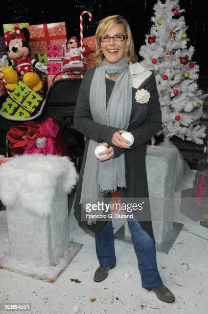 TV presenter Laurence Ferrari attends the Disneyland Magic Christmas Season Launch at Disneyland Resort Paris on November 7 2009 in Paris France