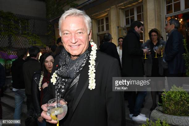 TV presenter Laurent Boyer attends 'Tonic Follies' Villa Schweppes Before Cannes Festival Party at Foundation Mona Bismarck on April 20 2017 in Paris...