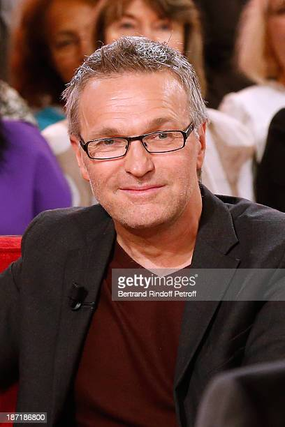 Presenter Laurent Ruquier attends the 'Vivement Dimanche' French TV Show at Pavillon Gabriel on November 6 2013 in Paris France