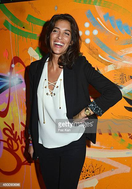 TV presenter Laurie Cholewa attends the 'Desperados Wild Club Party' At The 25eme Etage Ephemeral Bar Tour Pleyel Saint Denis on June 4 2014 in Paris...