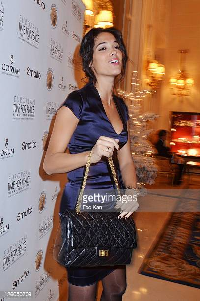 TV presenter Laurie Cholewa attends the 'European Time For Peace Awards' at the Hotel Ritz on December 10 2010 in Paris France