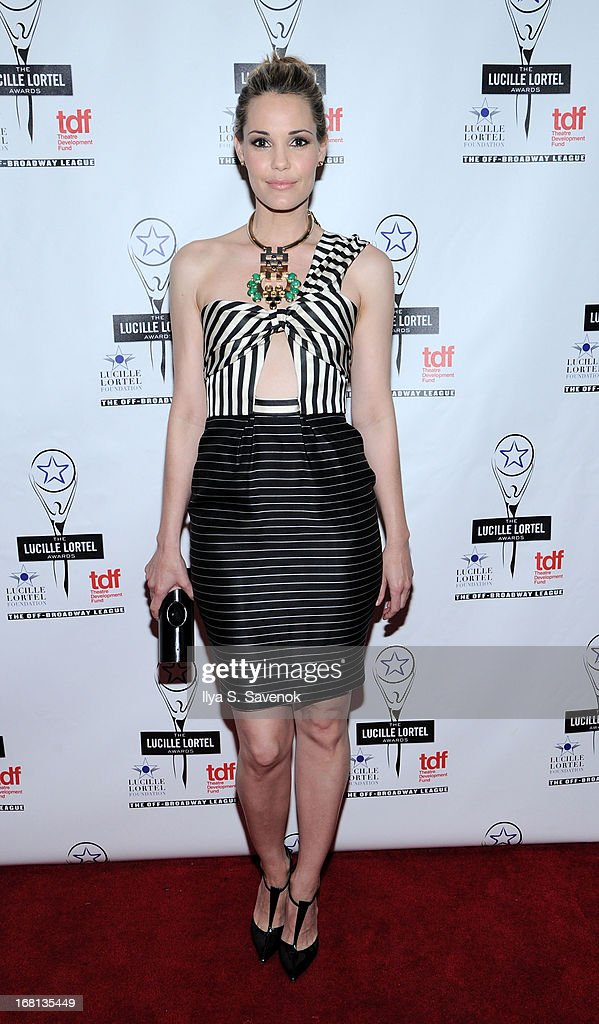 Presenter Leslie Bibb attends the 28th Annual Lucille Lortel Awards at NYU Skirball Center on May 5, 2013 in New York City.
