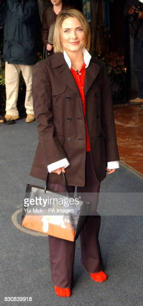 TV presenter Lisa Rogers arriving for The Mirror Pride of Britain Awards at the Hilton Hotel in Park Lane London