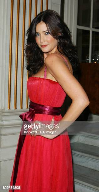 TV presenter Lisa Snowdon arrives for The Pink Ribbon Party A Night Of Fashion And Music at the Waldorf Hilton Hotel in Aldwych central London as...
