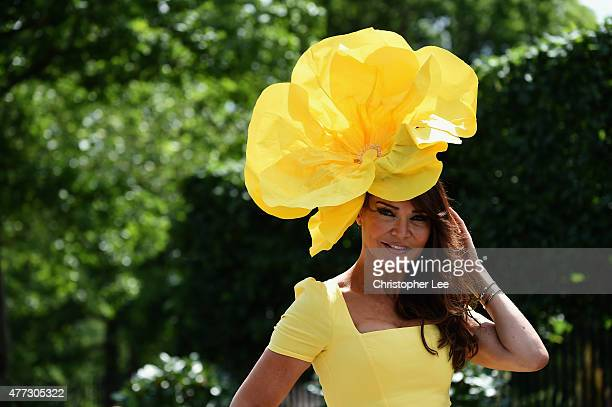 Presenter Lizzie Cundy poses for the camera during Day 1 of Royal Ascot 2015 at Ascot Racecourse on June 16 2015 in Ascot England
