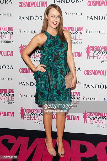 Presenter Lizzy Lovette arrives at the 2012 Fun Fearless Female awards at the Sydney Opera House on September 26 2012 in Sydney Australia