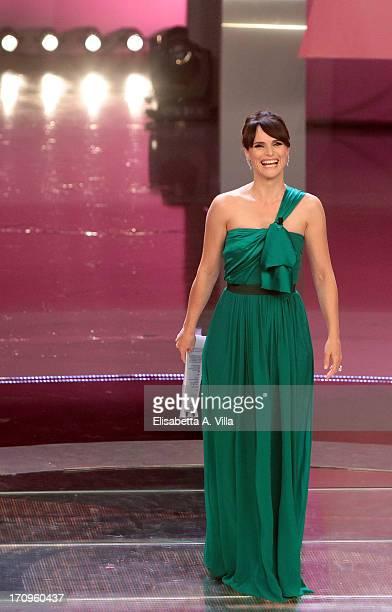 TV presenter Lorena Bianchetti attends 2013 at Dear RAI studios on June 20 2013 in Rome Italy