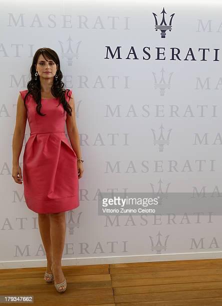 TV presenter Lorena Bianchetti attends the 70th Venice International Film Festival at Terrazza Maserati on September 2 2013 in Venice Italy