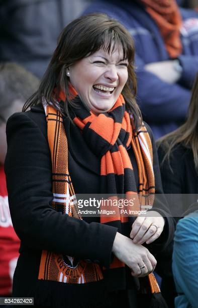 TV presenter Lorraine Kelly attends the game