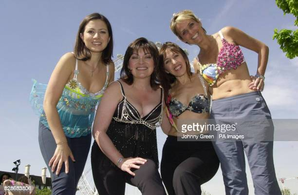 GMTV presenter Lorraine Kelly joins colleagues Clare Nasir and Nicki Waterman and the Founder of Walk the Walk Nina Barough in front of the London...