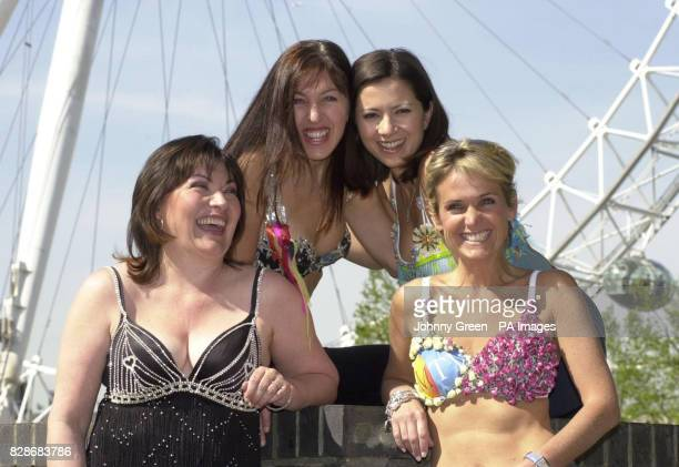 GMTV presenter Lorraine Kelly joins GMTV colleagues Clare Nasir and Nicki Waterman and the Founder of Walk the Walk Nina Barough at a photocall in...