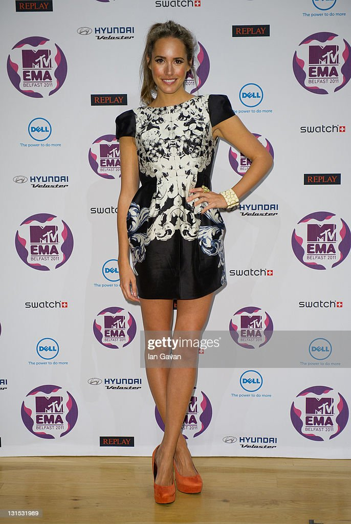 TV presenter Louise Roe attends a MTV Europe Music Awards 2011 press conference at Odyssey Arena on November 5, 2011 in Belfast, Northern Ireland.