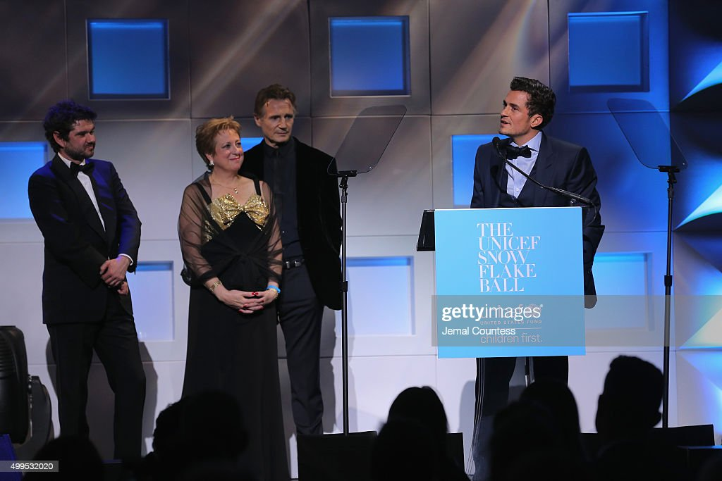 Presenter Luca Dotti President CEO US Fund for UNICEF Caryl Stern UNICEF Goodwill Ambassador Honoree Audrey Hepburn Humanitarian Award Orlando Bloom...