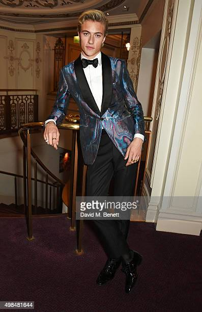 Presenter Lucky Blue Smith attends the British Fashion Awards in partnership with Swarovski at the London Coliseum on November 23 2015 in London...