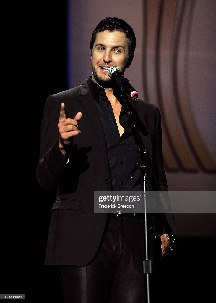 Presenter <a gi-track='captionPersonalityLinkClicked' href=/galleries/search?phrase=Luke+Bryan&family=editorial&specificpeople=4001956 ng-click='$event.stopPropagation()'>Luke Bryan</a> speaks during the 4th Annual ACM Honors at the Ryman Auditorium on September 20, 2010 in Nashville, Tennessee.