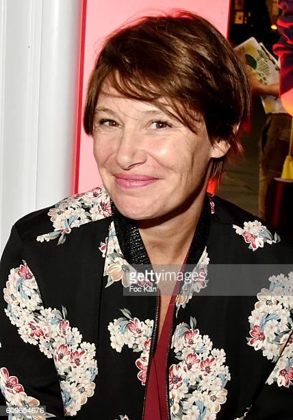TV presenter Maitena BirabenÊattends the Coq Sportif Boutique Opening Party on September 21 2016 in Paris France