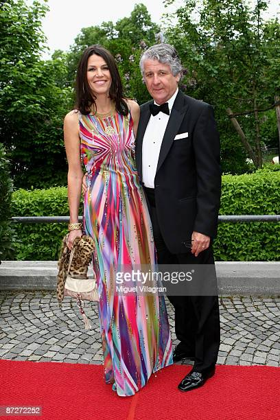 TV presenter Marcel Reif and his partner Marion Kiechle attends the Bavarian Television Award 'Baluer Panther' 2009 at the Prinzregententheater on...