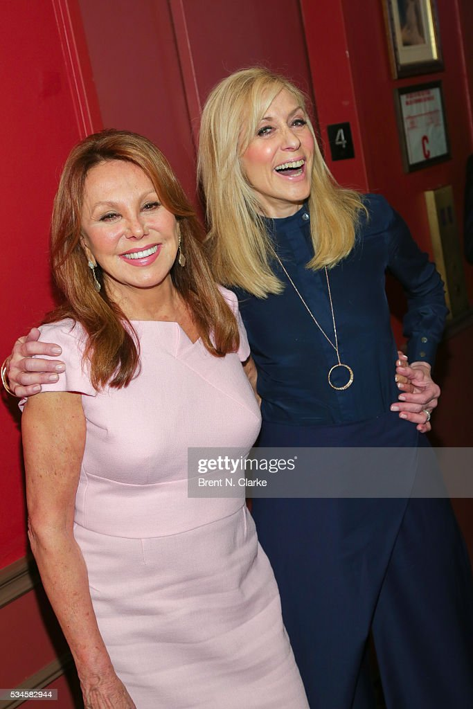 Presenter <a gi-track='captionPersonalityLinkClicked' href=/galleries/search?phrase=Marlo+Thomas&family=editorial&specificpeople=209421 ng-click='$event.stopPropagation()'>Marlo Thomas</a> (L) and winner for outstanding featured actress in a play, 'Therese Raquin', <a gi-track='captionPersonalityLinkClicked' href=/galleries/search?phrase=Judith+Light&family=editorial&specificpeople=214207 ng-click='$event.stopPropagation()'>Judith Light</a> pose for photographs during the 66th Annual Outer Critics Circle Theatre Awards held at Sardi's on May 26, 2016 in New York City.