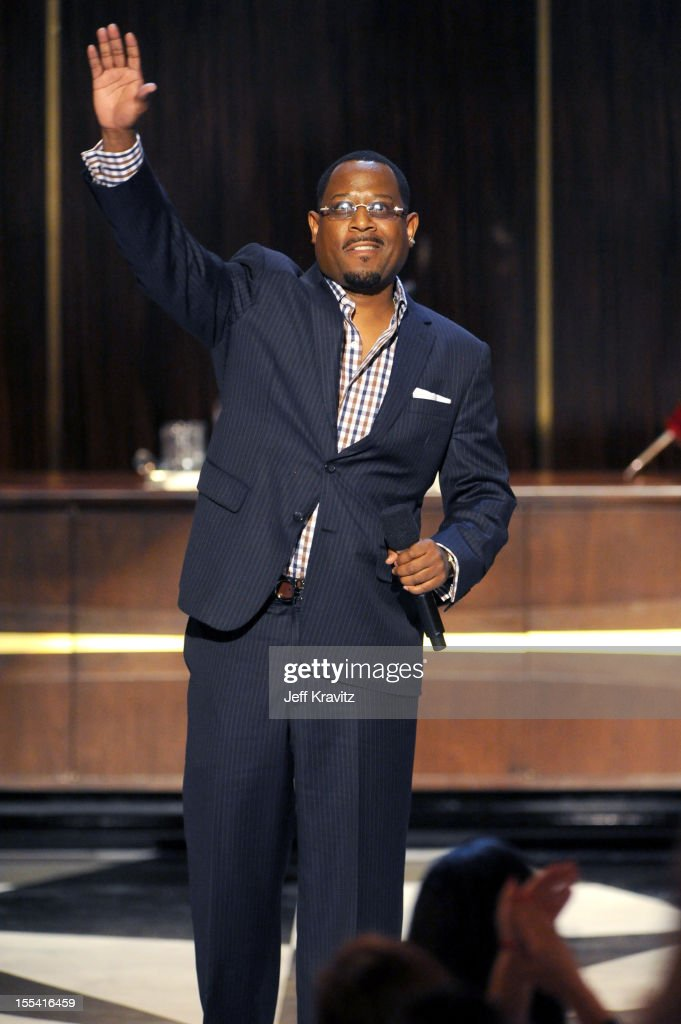 Presenter <a gi-track='captionPersonalityLinkClicked' href=/galleries/search?phrase=Martin+Lawrence&family=editorial&specificpeople=226555 ng-click='$event.stopPropagation()'>Martin Lawrence</a> speaks onstage at Spike TV's 'Eddie Murphy: One Night Only' at the Saban Theatre on November 3, 2012 in Beverly Hills, California.