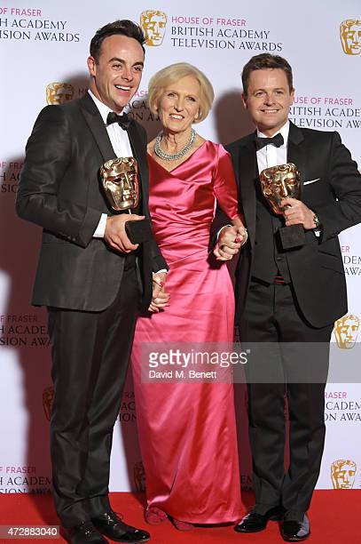 Presenter Mary Berry poses with Anthony McPartlin and Declan Donnelly winners of Best Entertainment Performance for 'Ant Dec Saturday Night Takeaway'...