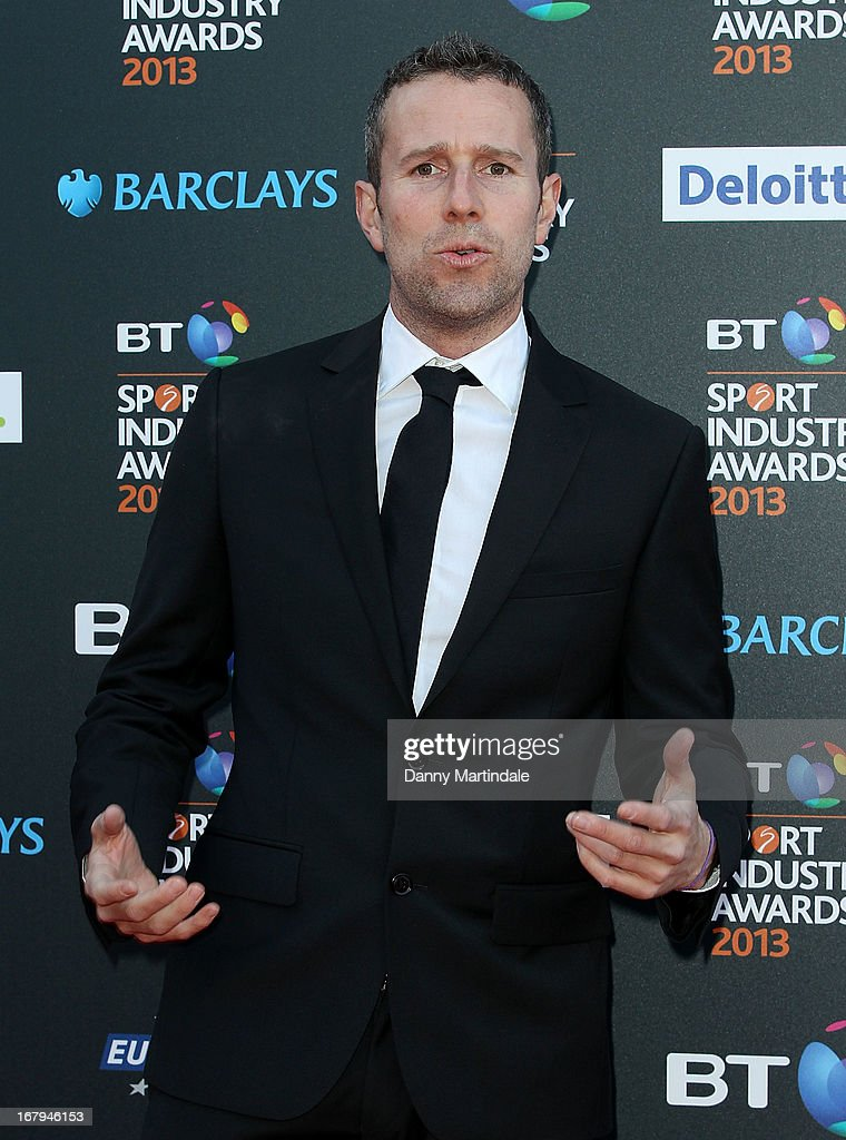 TV presenter Max Rushden attends the BT Sports Industry awards at Battersea Evolution on May 2, 2013 in London, England.