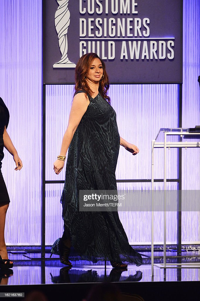 Presenter Maya Rudolph onstage during the 15th Annual Costume Designers Guild Awards with presenting sponsor Lacoste at The Beverly Hilton Hotel on February 19, 2013 in Beverly Hills, California.