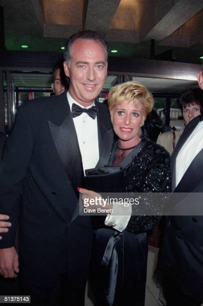 TV presenter Michael Barrymore and his wife Cheryl at the UK National Television Awards in Wembley Arena 29th August 1995