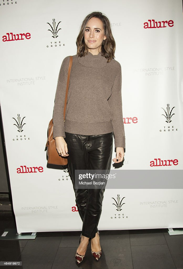 TV Presenter Model and Fashion Journalist Louise Roe attends International Style Institute With Allure Cocktail Reception At The Grove's Whisper...