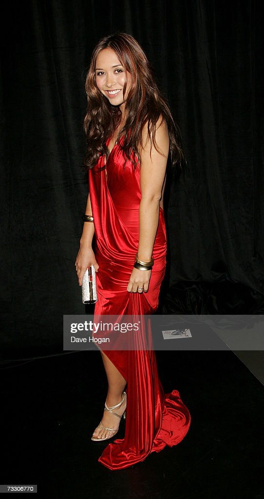 TV presenter Myleene Klass arrives at the ELLE Style Awards at the Roundhouse Theatre February 12, 2007 in London, England.