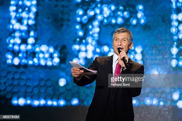 Presenter Nagui attends the 'France Television Telethon 2014' TV show on December 6 2014 in Paris France