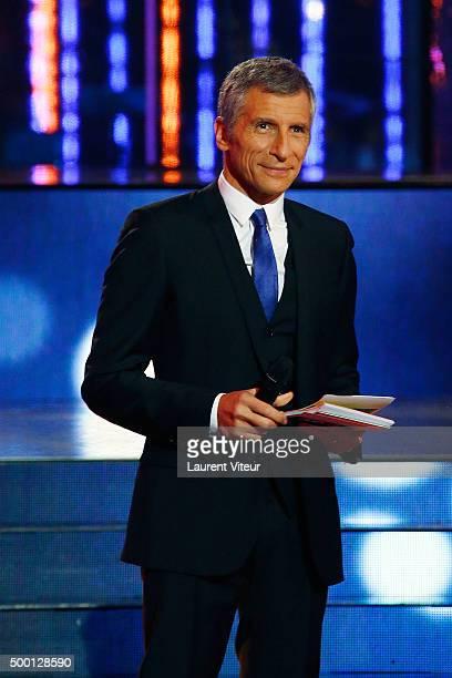 Presenter Nagui attends the 'France Television Telethon 2015' at Hippodrome de Longchamp on December 5 2015 in Paris France