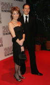 TV presenter Natasha Kaplinsky and Brendan Cole of Strictly Come Dancing arrive at the '2004 TV Moments Awards Ceremony' at BBC Television Centre on...