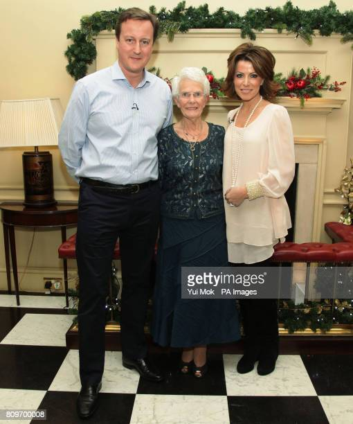 Presenter Natasha Kaplinsky Doreen Roberts from Langport in Somerset and Prime Minister David Cameron who welcomed the widow to Downing Street on...