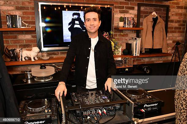 Presenter Nick Grimshaw attends a preview of the Nick Grimshaw x TOPMAN collection at TopShop on October 14 2015 in London England