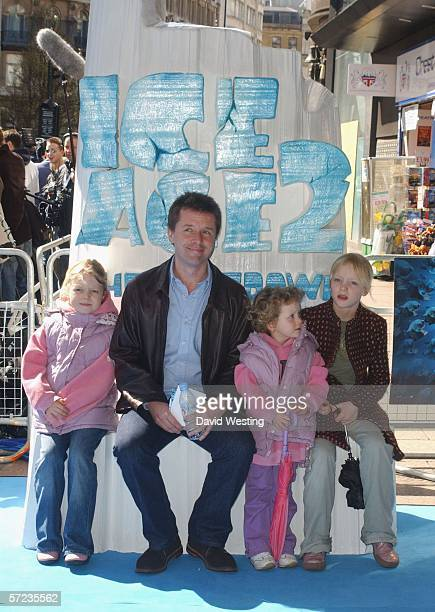 TV presenter Nicky Campbell and his daughters Breagha Kirsty and Isla arrive at the UK Premiere of 'Ice Age 2 The Meltdown' at the Empire Leicester...