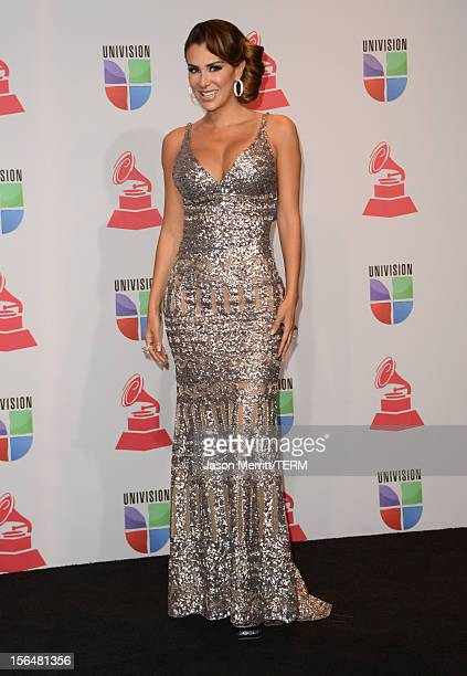 Presenter Ninel Conde poses in the press room during the 13th annual Latin GRAMMY Awards held at the Mandalay Bay Events Center on November 15 2012...