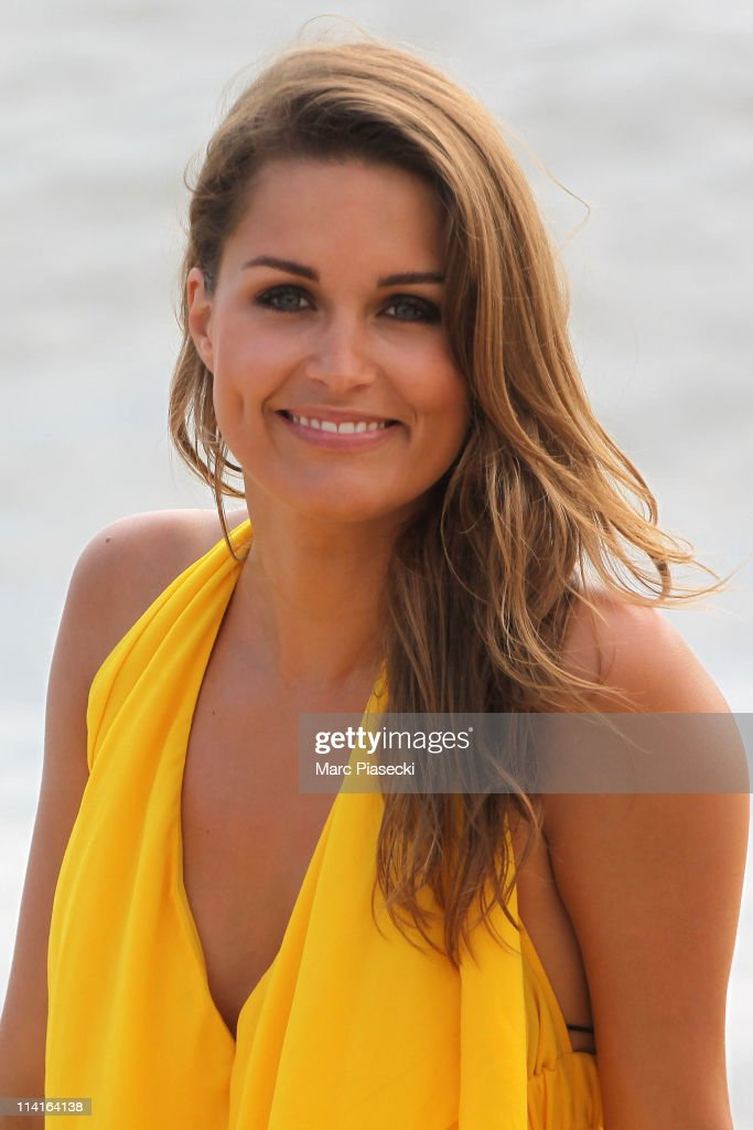TV presenter of 'Les Anges de la Tele-realite' Jeny Priez spotted on the 'Martinez ' hotel beach on May 13, 2011 in Golfe Juan, France.