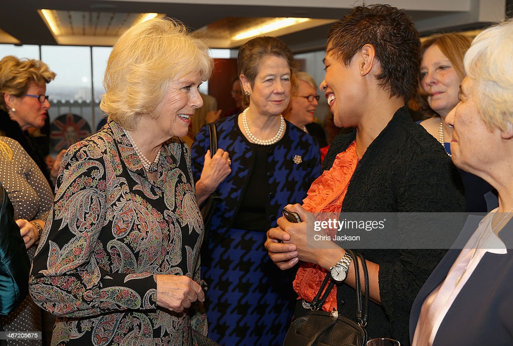 Presenter of Masterchef Monica Galetti meets <a gi-track='captionPersonalityLinkClicked' href=/galleries/search?phrase=Camilla+-+Duchess+of+Cornwall&family=editorial&specificpeople=158157 ng-click='$event.stopPropagation()'>Camilla</a>, Duchess of Cornwall as they celebrate the success of New Zealand women in the UK on Waitangi day at New Zealand House on February 6, 2014 in London, England. Waitangi Day commemorates the signing of a treaty between 500 Maori Chiefs and the British Crown in 1840.