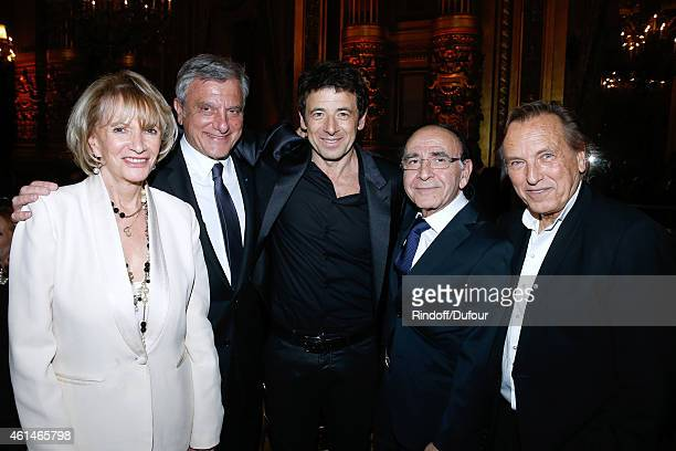 Presenter of the event Eve Ruggieri CEO Dior Sidney Toledano Singer Patrick Bruel General delegate of Weizmann Institute Robert Parienti and...