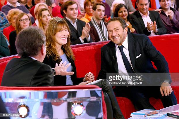Presenter of the show Michel Drucker Singer and main guest of the show Carla Bruni presents the DVD 'Carla Bruni a l'Olympia' and Humorist Patrick...