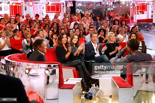 Presenter of the show Michel Drucker Singer Zazie Autor of songs from Christophe Willem's new Album 'Paraitil' Carla Bruni Actor Dany Boon Actress...
