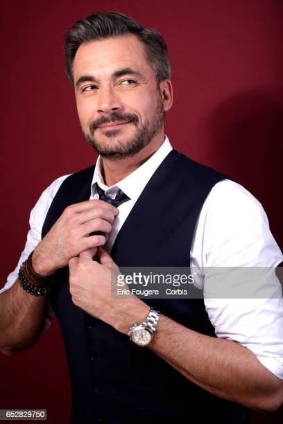 Presenter Olivier Minne poses during a portrait session in Paris France on