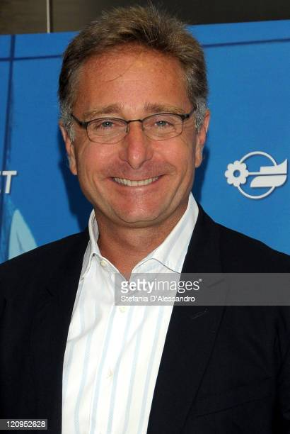 TV presenter Paolo Bonolis attends a photocall at the Mediaset Studios on June 4 2009 in Milan Italy The presenter unveiled Mediaset 2010 TV...