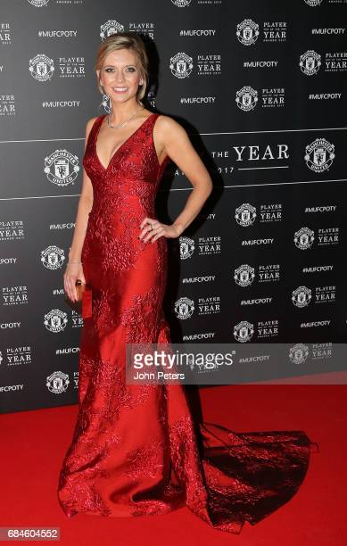 Presenter Rachel Riley arrives at the club's annual Manchester United Player of the Year awards at Old Trafford on May 18 2017 in Manchester England